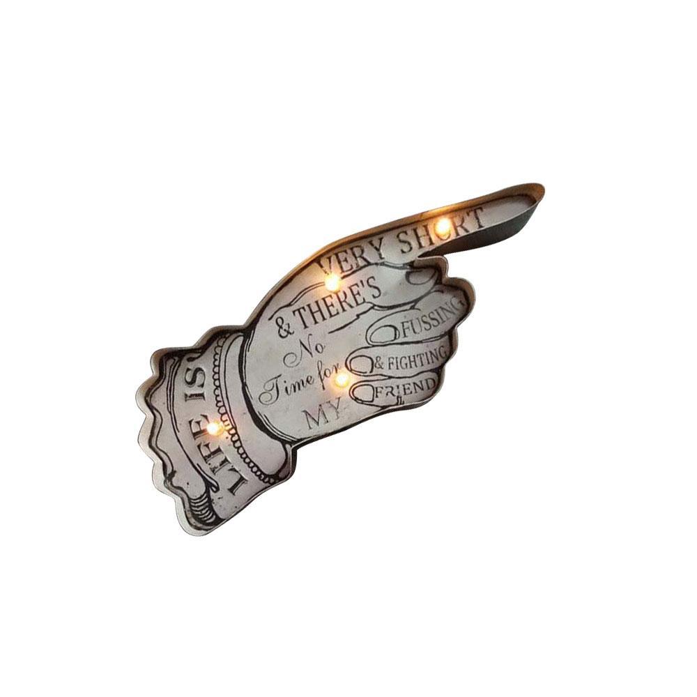 601c0535e73f3a Acheter Rétro LED Mur Pendentif Enseigne Au Néon En Métal Lumineux Pub  Décoration De La Maison De $42.64 Du Tengdinglamp | DHgate.Com