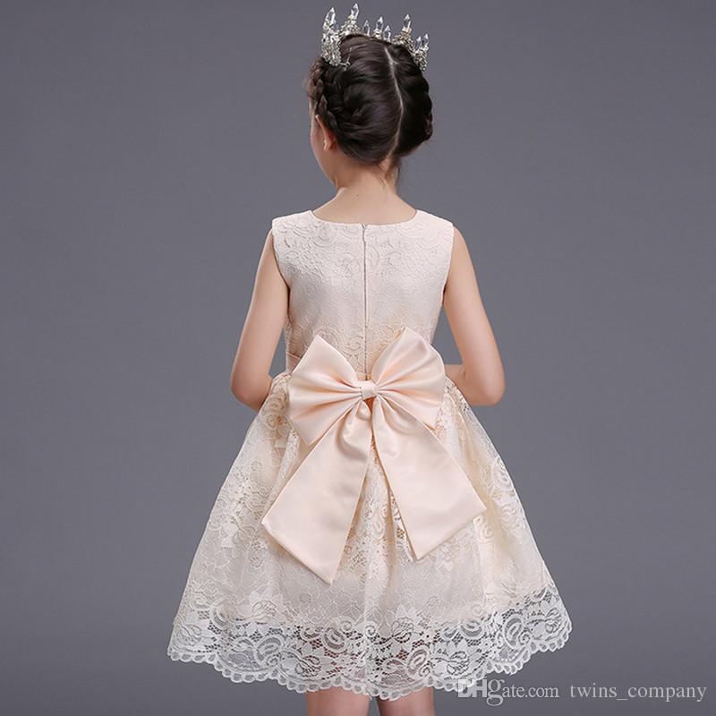 Flor da menina tutu vestido de princesa crianças infantil vestido de noiva meninas criança elegante vestido infantil party dress 3-10y