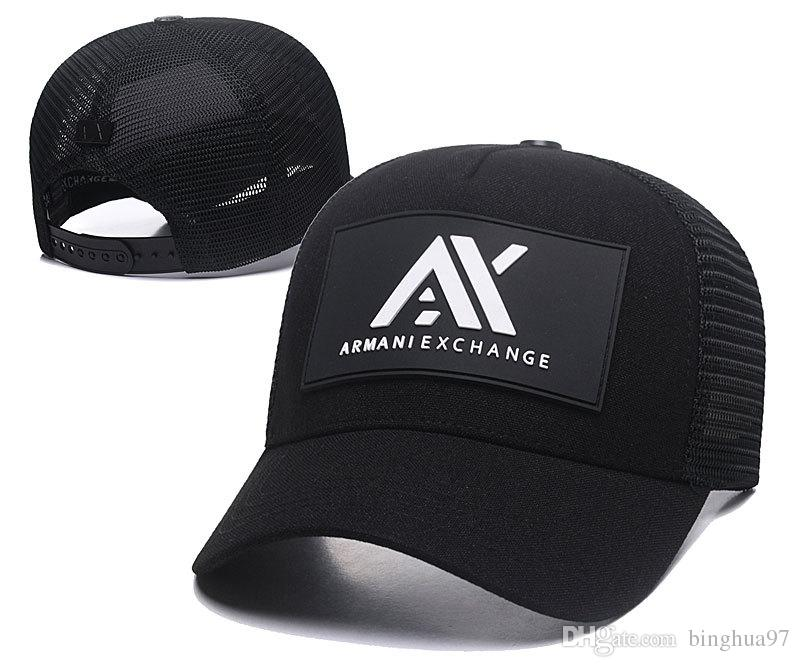 Compre Gorra De Béisbol De Moda AX Snapback Caps Sombrero De Cuero De  Adulto Del Diseñador Del Adulto Gorras De Béisbol De Gama Alta Buena Marca  De Logo ... a70399dbcc2