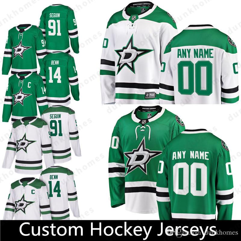 Custom Dallas Stars 14 Джейми Бенн 91 Тайлер Сегин 3 Джон Клингберг 12 Радек Факса 23 Эса Линделл 28 Стивен Джонс Хоккейные майки