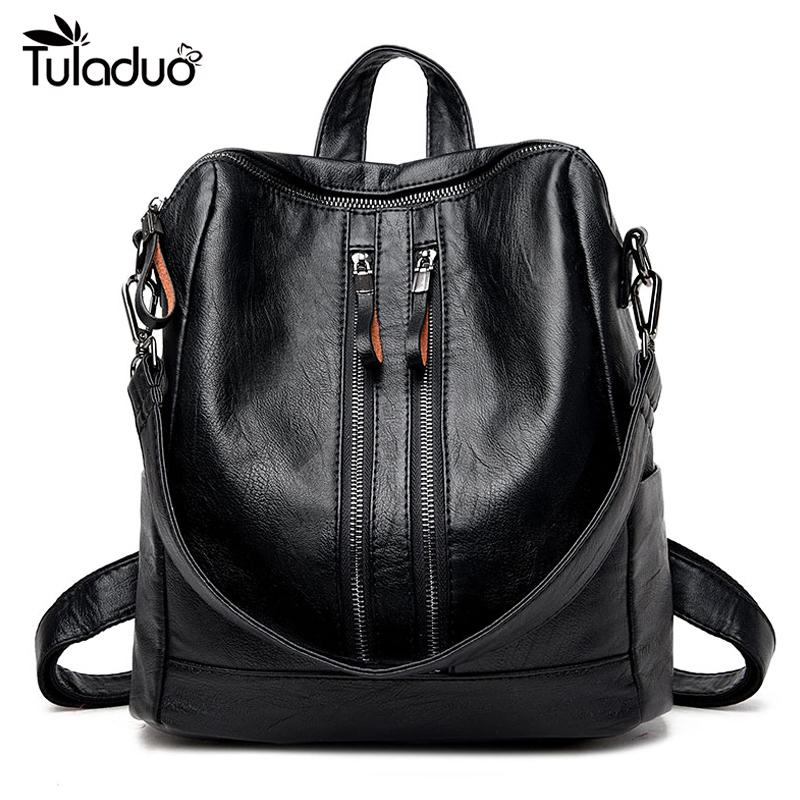 High Quality 2017 New Fashion Soft Genuine Leather Backpack Women Brand Ladies  Backpacks For Teenage Girls Casual School Bag Travel Backpacks Small  Backpack ... ab90abd6da489