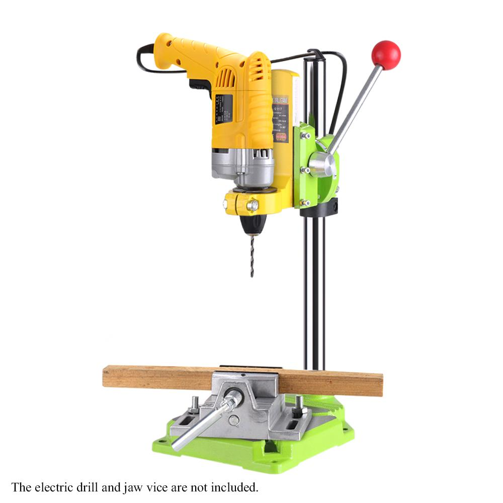Drill Workbench Electric Drill Press Stand Table Rotary Tool Workstation Repair Clamp Work Station 90 Degree Rotating Fixed Fram