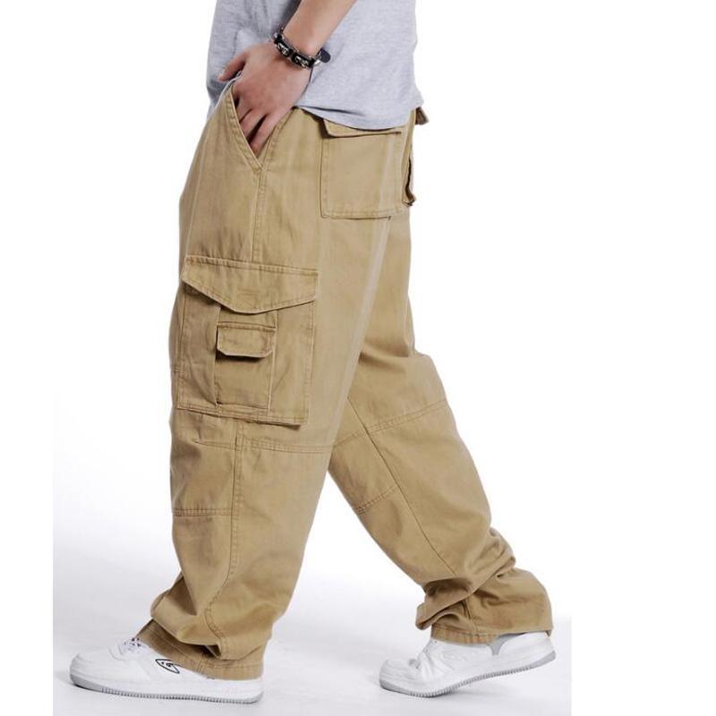 ada333d9a1918 Compre Pantalones De Chándal De Hip Hop Para Hombre Pantalones Para Hombre  Pantalones Joggers Ocasionales Pantalones De Carga Sueltos Pierna Ancha Ropa  ...