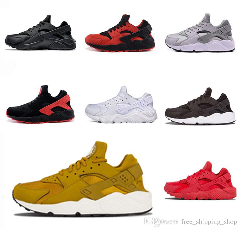 bddfc985a4205c Original 1.0 Gold HUARACHE Men S Running Shoes Women 1.0 Red Black All Red  Red Black Triple White Grey Sneakers 36 45 Ladies Running Shoes Kids  Running ...