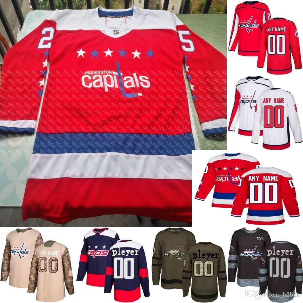 2018 Stanley Cup Champions Custom Washington Capitals Wilson Oshie ... 0140d3434