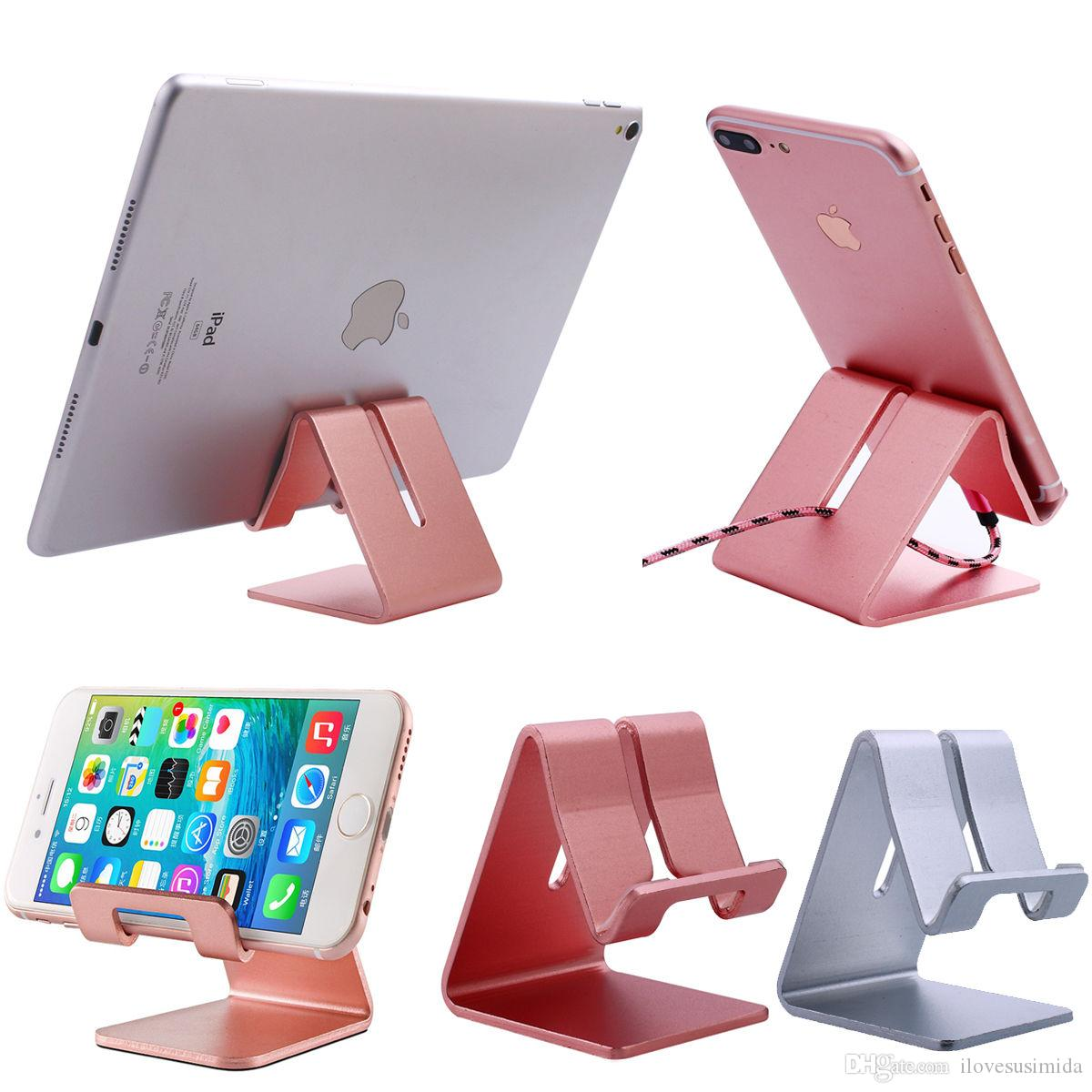 New creative products tablet holder metal Aluminum foldable mobile cell phone stand Portable Foldable Adjustable Aluminum Metal Cell Phone