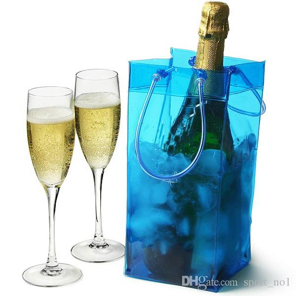 Wine Ice Cooler Rapid Beer Cooler Ice Bag Outdoor Sports Ice Jelly Bag Picnic Chillers Frozen Bag Bottle PVC NNA91