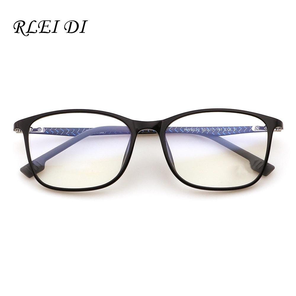 Ultra Light Carbon Plastic Steel Frame with Clear Glasses Retro ...