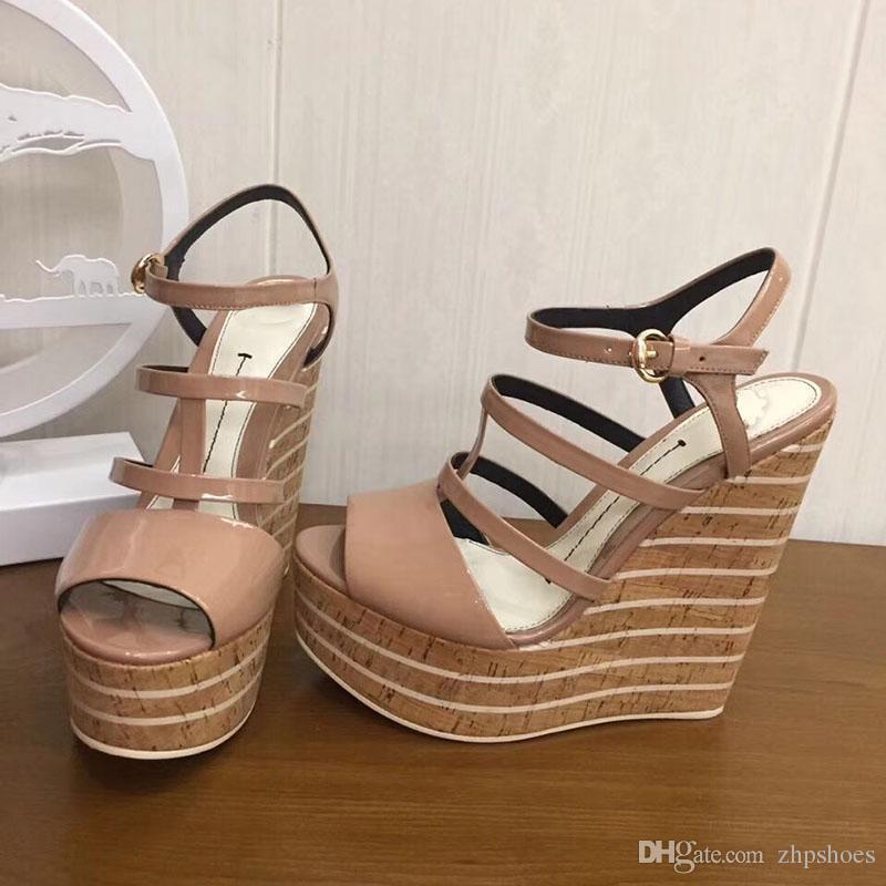 d59f89883faf2 Fashion Women Platform Wedges Sandals 2018 Rivet Sandals Women Shoes High  Heels Platform Wedge Sandals Size 30 40 Green Shoes Shoe Shop From  Zhpshoes