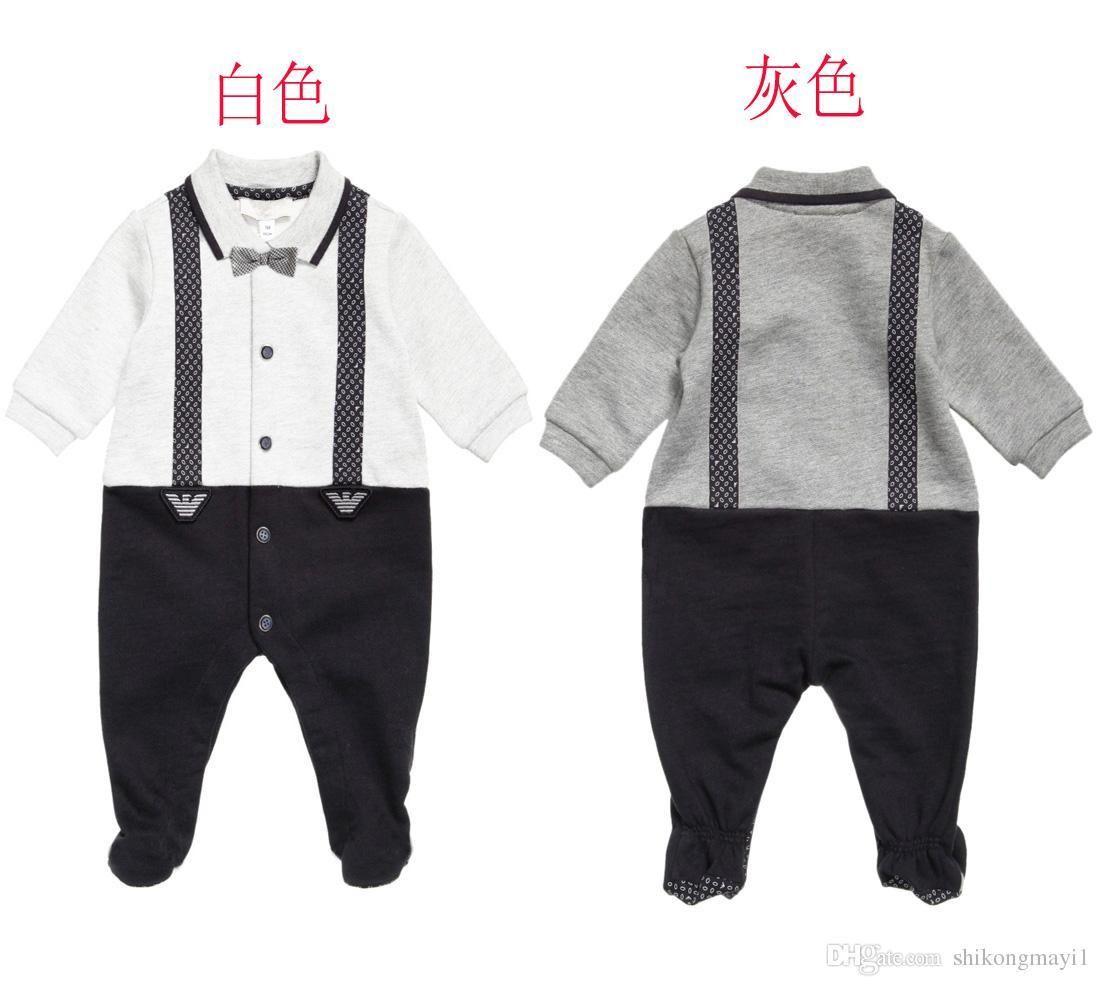 2dc465e7a 2019 Retail Newborn Baby Boy Clothes Infant Romper Long Sleeve ...
