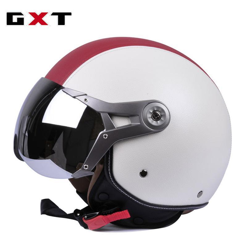 f11725721 Acheter Casque Moto Demi Face Capacete Vintage Motocross Casco Moto  Sécurité Vélo Électrique De  112.93 Du Miniputao