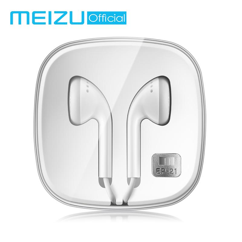 Original Meizu EP21 Earphones Wired Earphone Stereo Headset In-Ear Earbuds  3 5mm Jack with Microphone Volume Control For Android