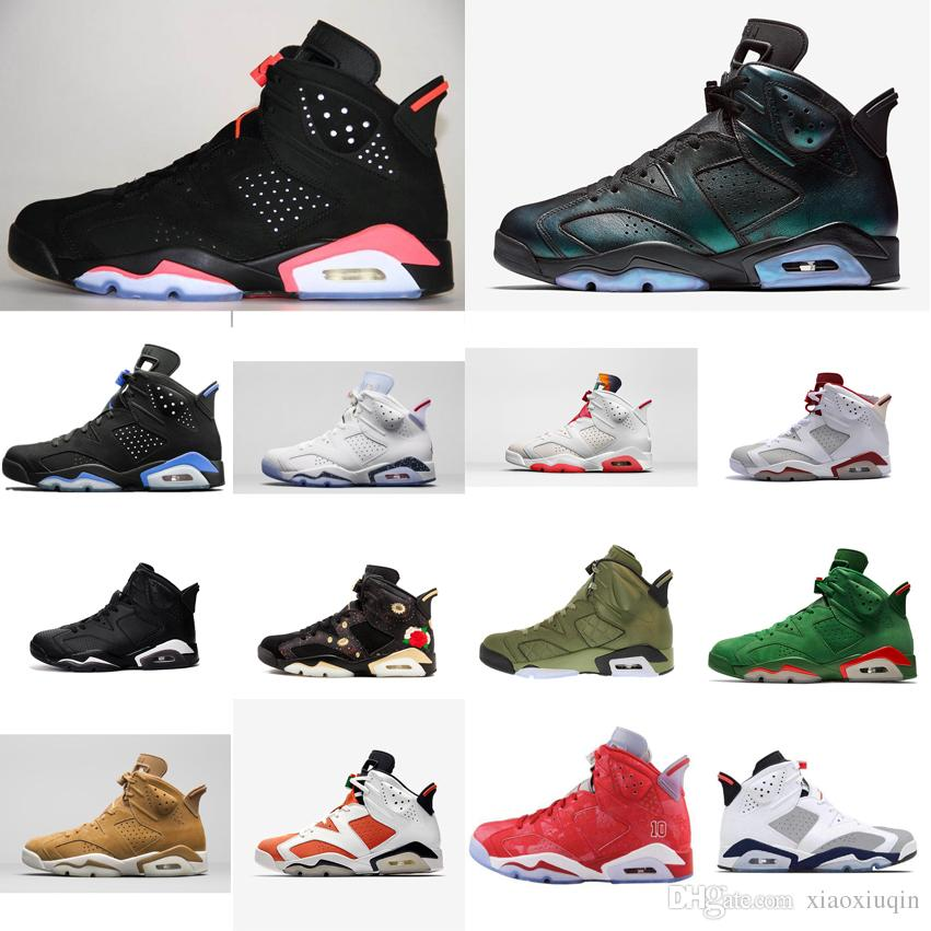 b4dd2097d38ac6 2019 Cheap Men Retro 6s Basketball Shoes For Sale J6 Infrared Black Blue  UNC Chameleon Slam Dunk Tinker AJ6 Jumpman VI Sneakers Tennis With Box From  ...