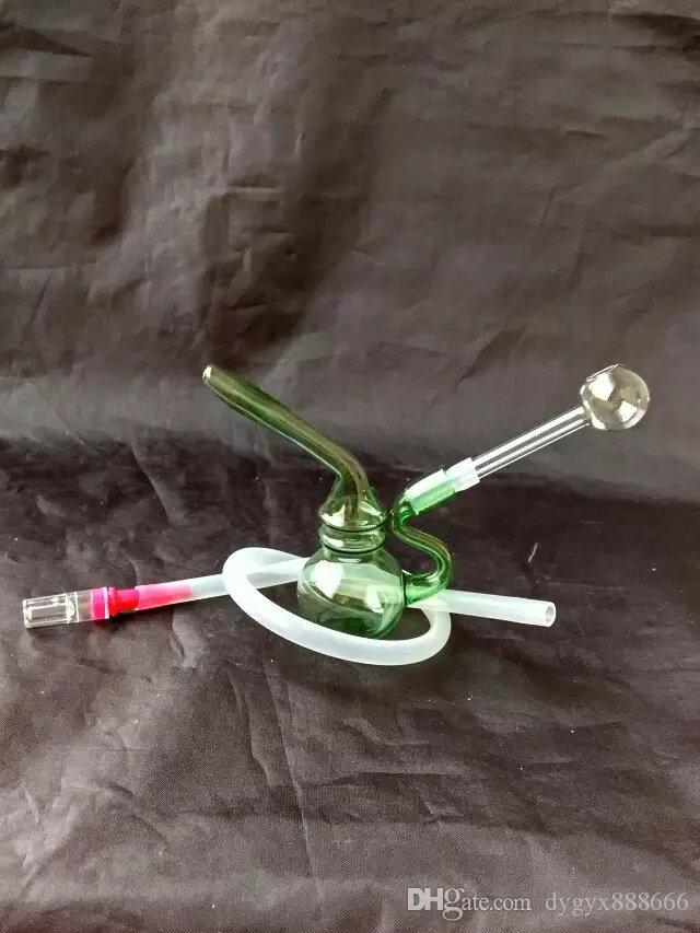 Mini bong di vetro del filtro dal ciclo del tubo di fumo del tubo di vetro, consegna casuale di stile