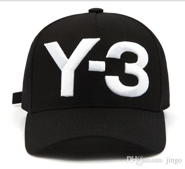 y 3 dad hat big bold embroidered baseball cap adjustable strapback