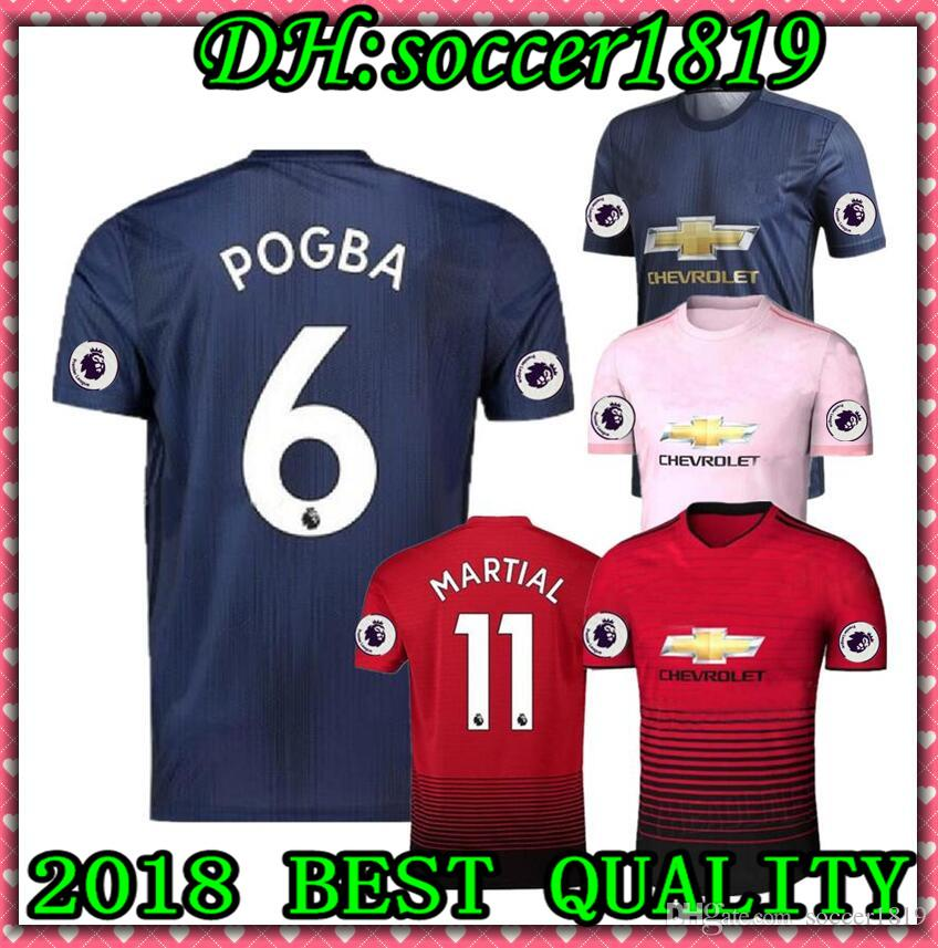 dc01d9f61 2018 2019 POGBA ALEXIS MaN Soccer Jersey UNITED 18 19 Manchester ...