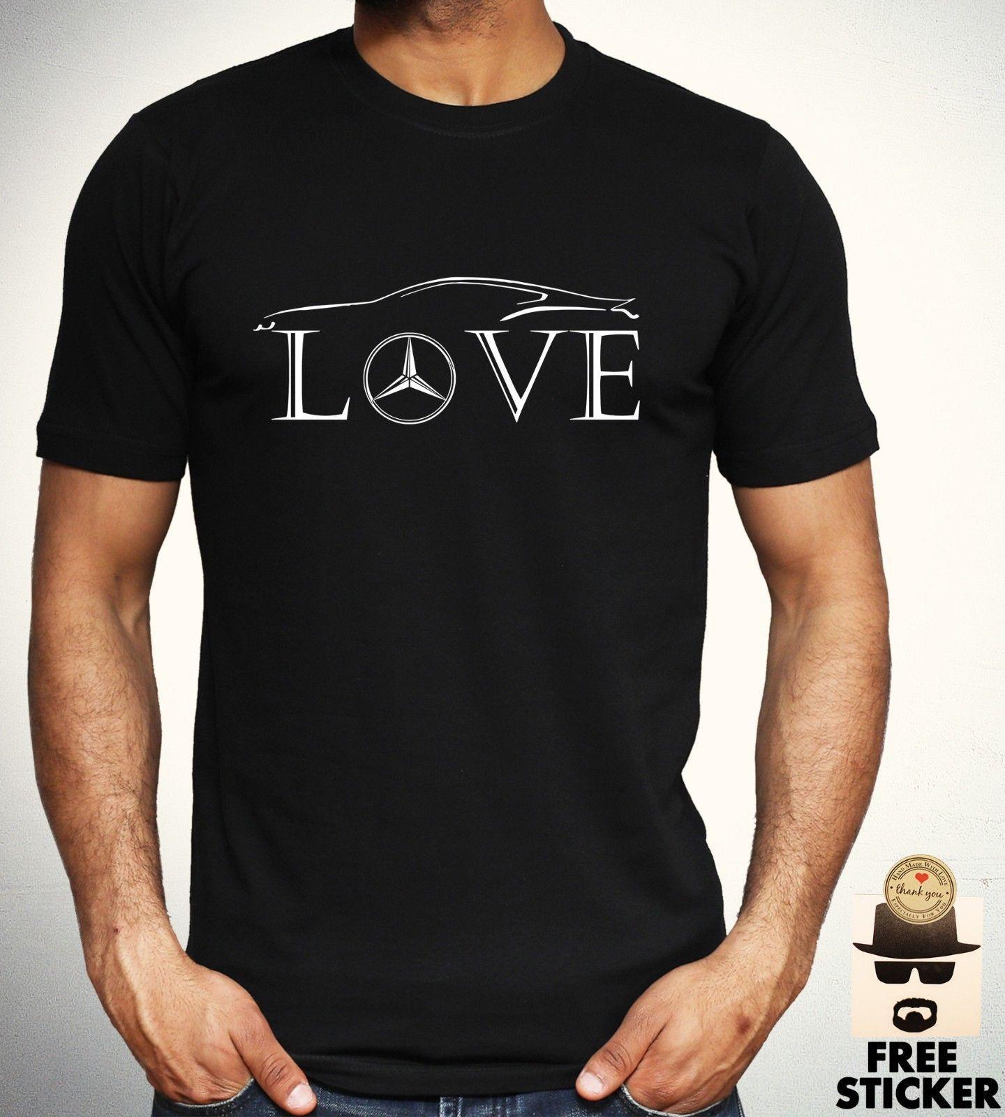 mercedes benz love t shirt car racer novelty tee gift f1. Black Bedroom Furniture Sets. Home Design Ideas
