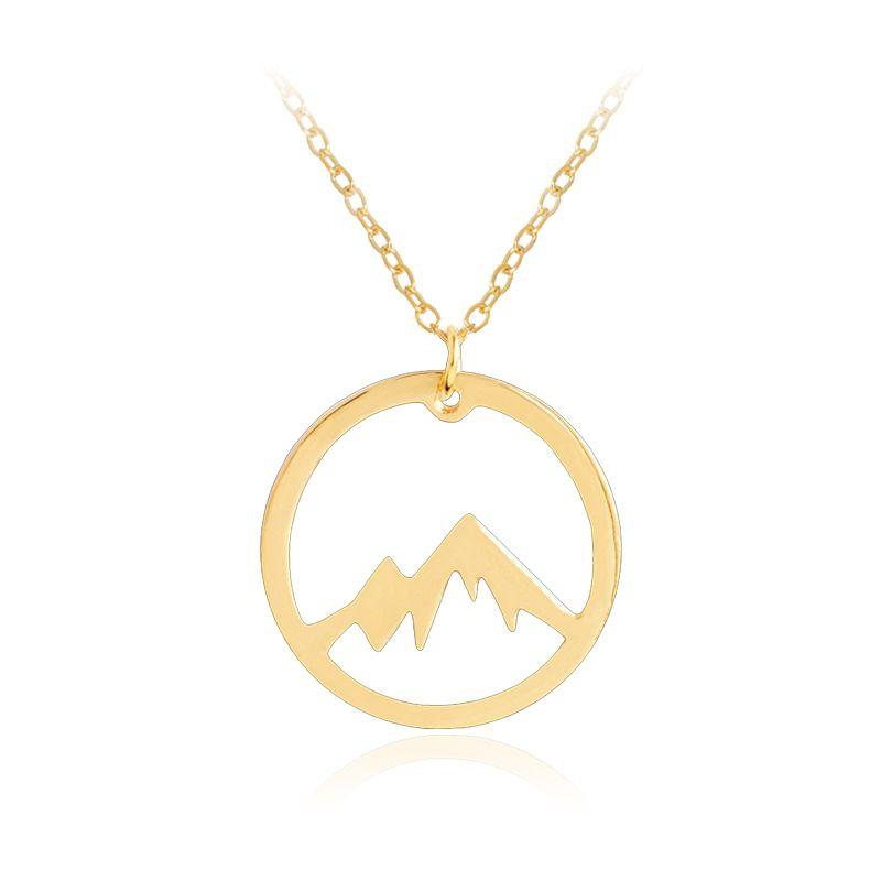 Compre toda la ventasnow mountain pendant necklace para mujeres compre toda la ventasnow mountain pendant necklace para mujeres hombres de aleacin de cadena hueco redondo collares simple creativo regalo de la joyera a aloadofball Choice Image