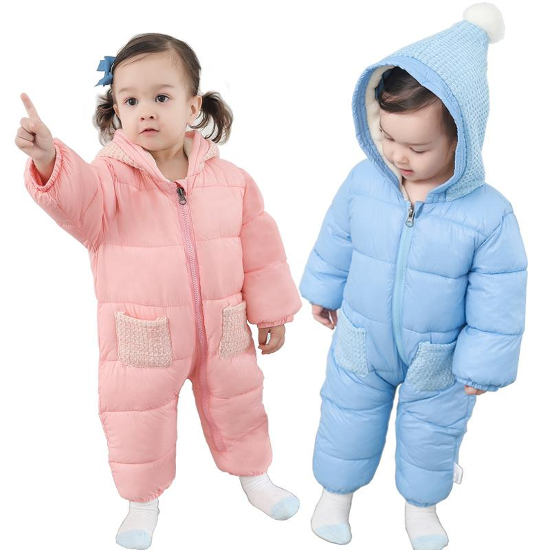 0dbe000e2742 La MaxZa Baby Snow Wear Cotton Padded One Piece Warm Outerwear Kid S ...