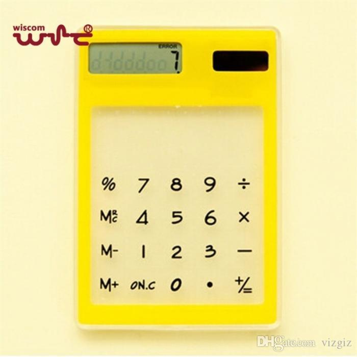 Slim Solar Energy Touch Clear Scientific Calculator Student School Office  Exam Supplies Birthday Gift XXM