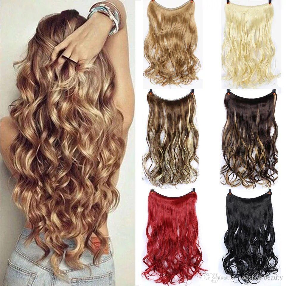 Flip In High Temprature Hair Hidden Wire Hair Weave Invisable