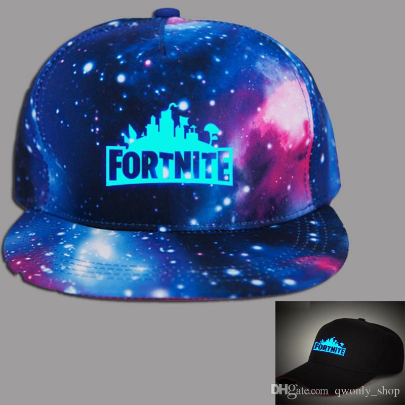 1db186316 Fortnite Luminous Snapbacks Teenager baseball cap 2018 summer sunhat hip  hop hat DHL free shipping 2 colors