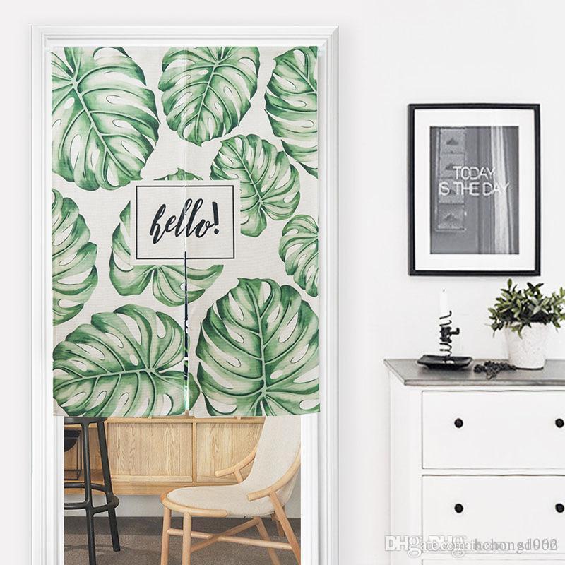 2019 Botany Fabric Art Door Curtain Half Window Curtains Modern