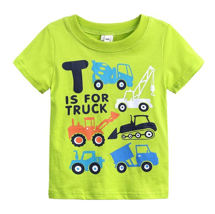 Summer Boys Shirts Cotton Children T-shirts cartoon Tops For Girls Short Sleeve Kids Blouse 1-6Y pullover baby Clothing