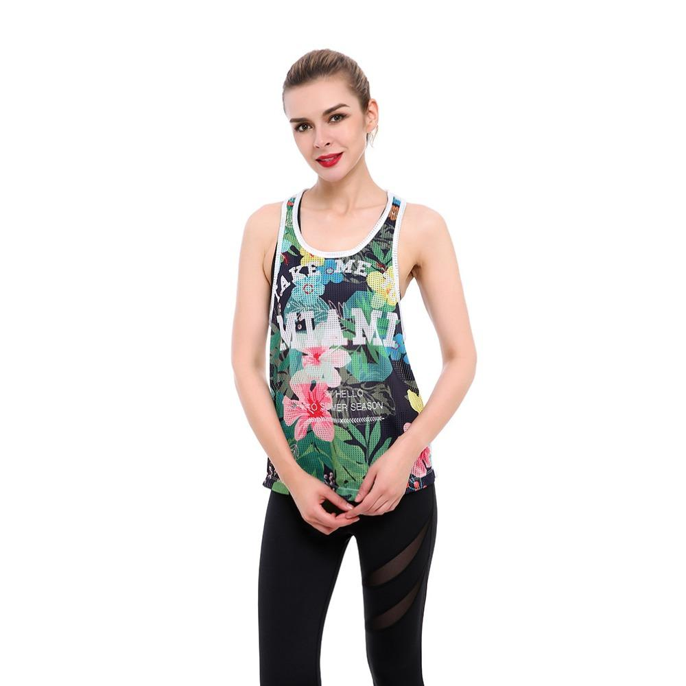 33fff476e044 2019 Fashion Women Casual Flower Print Tank Tops O Neck Chiffon T Shirt  Female Summer Grenadine Vest Tops Sleeveless Shirt Blouse From Cute08