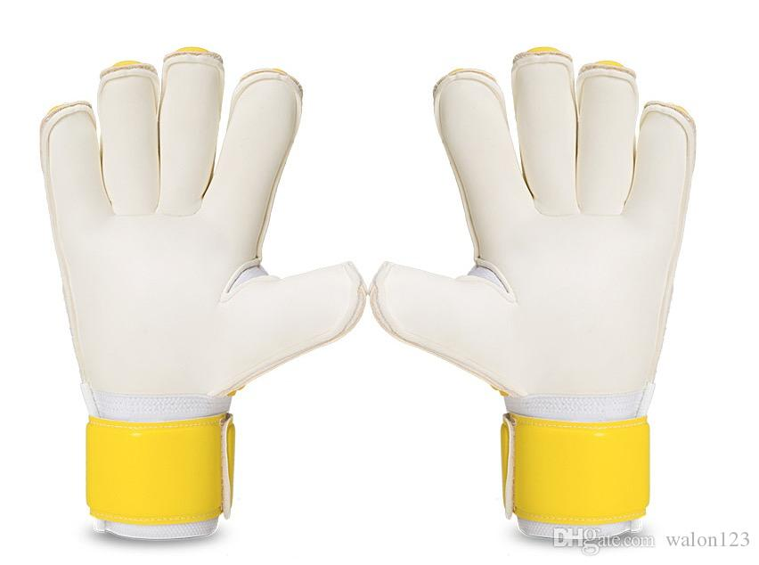 Men Boy's Professional Football Goalkeeper Gloves Detachable Finger Protection Soccer Glove Keeper Yellow Red Adult