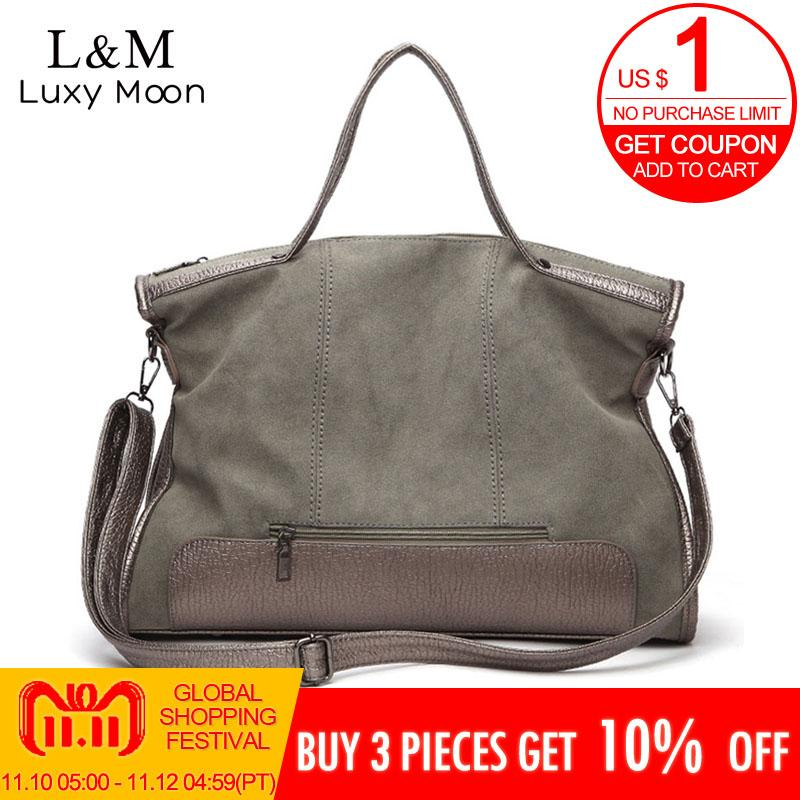 44a8d43b7e54 2019 New Women Bag Designer Vintage Matte Leather Handbags Large Messenger  Bags High Quality Casual Shoulder Tote Bag XA187H Cheap Bags Cute Purses  From ...