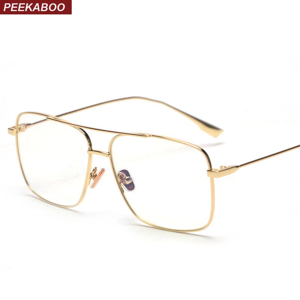 2c78898ac490 2019 Peekaboo Big Eyeglasses Optical Frame Glasses Women Men 2018 ...