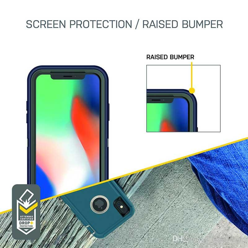 FOR Mobile phone Hybrid Case 3 in 1 built-in screen protector Combo Holster Belt Clip Protective Defender Kickstand Phone Cover