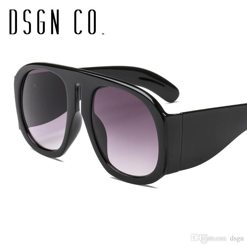 46730f4eff0 DSGN CO. 2018 Oversize Modern Pilot Sunglasses For Men And Women ...