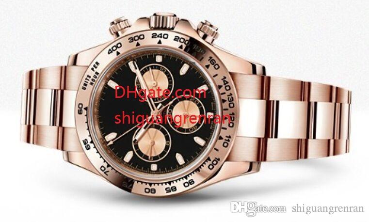 01c7060af0d58 Luxury AAA Men Watch 40mm Sapphire 116505 18k Rose Gold Black Dial  Mechanical Automatic No Chronograph Mens Wristwatches Man S Watches Buy Watch  Watch Buy ...