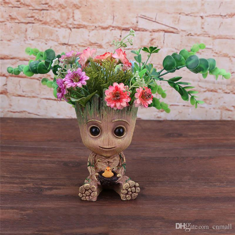 Baby Groot Flowerpot Action Figures Home Decoration Cute Model Guardians Of The Galaxy Toy Cute Model Toy