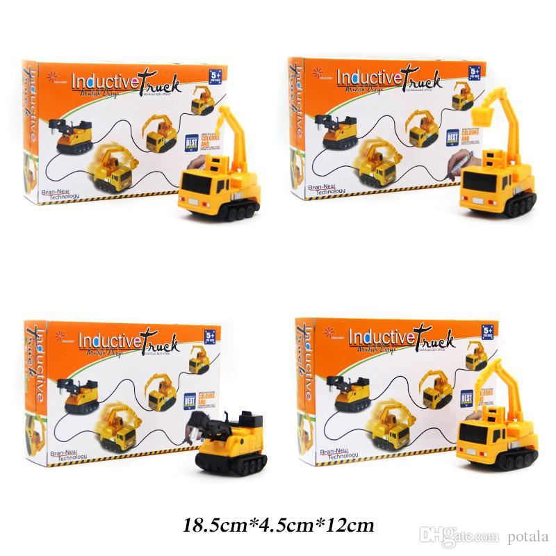IR Inductive Engineering Car Racing Mini Magic Pen Follow Any Drawn Line RC Cars Robots brinquedos kids toys Robot Remote Control Vehicles