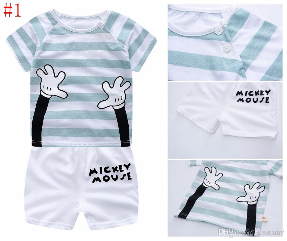 0ab52ea4dd6 2019 Kids Baby Boy Girl Clothes Summer 2018 Newborn Baby Boys Girls Clothes  Set Cotton Baby Clothing Suit Shirt+Pants Plaid Infant Clothes Set From  Greatamy ...