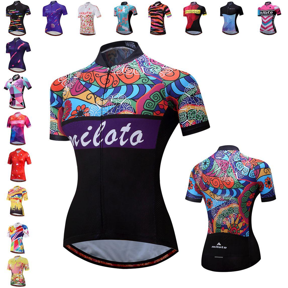 b037c5718 New Hot Sale Women Cycling Jersey Bike Top Shirt Summer Short Sleeve MTB  Cycling Clothing Ropa Maillot Ciclismo Racing Bicycle Clothes V Neck T  Shirts Long ...