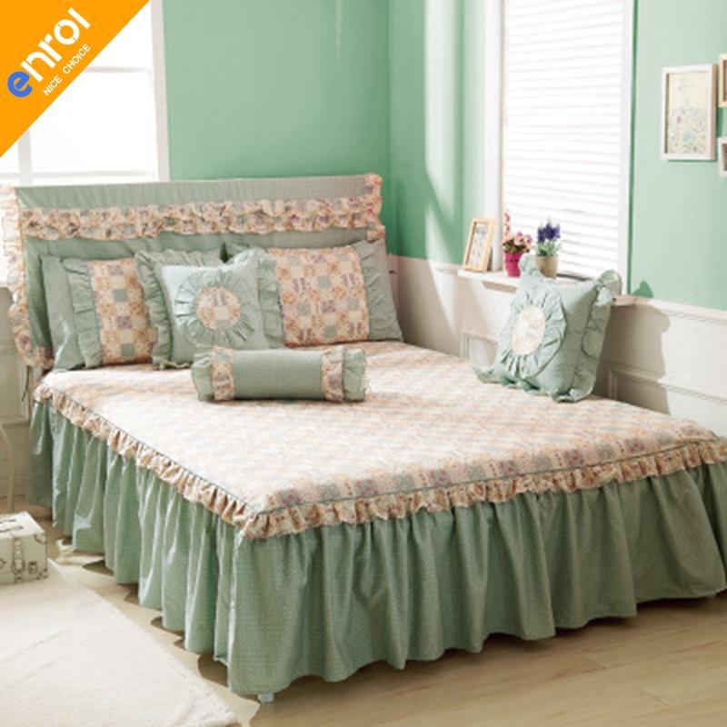 Grosshandel 100 Baumwolle Bett Rock Blumendruck Schone Bett Rocke