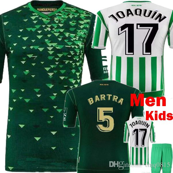 Compre Tailandia 2018 2019 Real Betis Home JOAQUÍN BARTRA Camisetas De  Fútbol 18 19 AWAY Tercera INUI JAVI GARCIA CANALES TELLO Kits Camisetas De  Fútbol ... 18516d3c80308