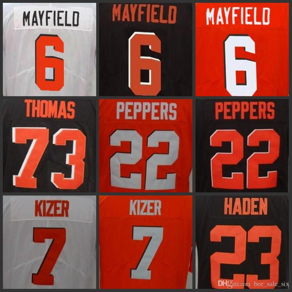 9016e448b89 ... official 2018 custom mens womens youth cleveland brown jerseys 80  jarvis landry 6 baker mayfield 7