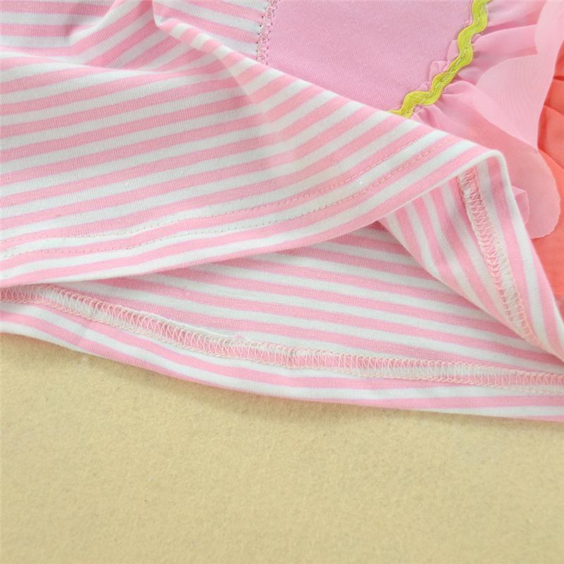 Sommer Baby Mädchen Kleidung Sleevless Kleider Swan Sommerkleid Kleinkind Nette Kinder Kleidung Vestidos Gestreiftes Tier Kleid Boutique Outfits 0-5Y