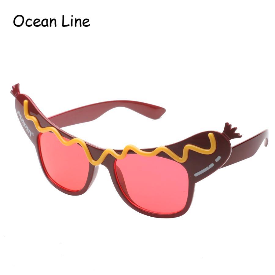 Creative Hotdog Glasses Novelty Sunglasses Fancy Dress Costume Party ...