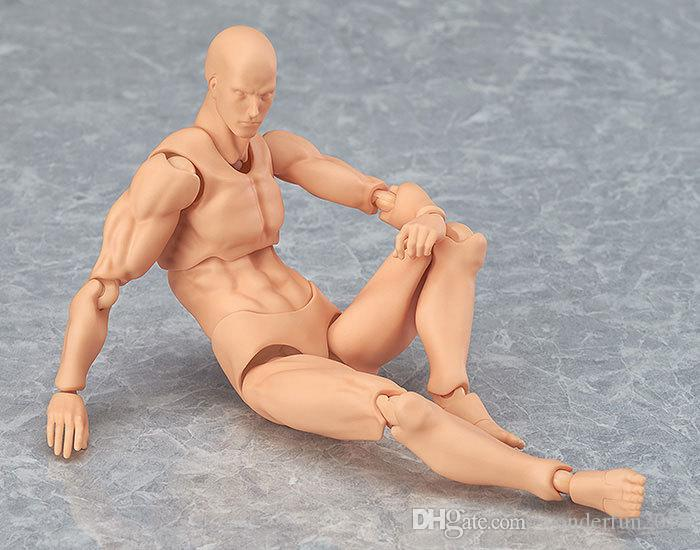Male/Female PVC Flexible Action Figure Model DIY Body Toy For Painting Drawing Sketch Anime