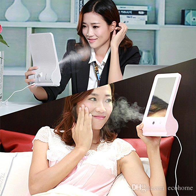 Face Mist Sprayer LED Makeup Mirror Nano Facial Steamer Humidifier for Hydrating Moisturizing Skin USB Beauty Sprayer Office Home Use