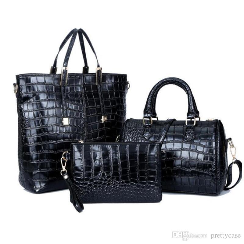 973698ad37 Set PU Leather Women Shoulder Bag Handbag And Purse Luxury Designer Large Tote  Bag Ladies Boston Messenger Bag Handbag Brands Cheap Bags From Prettycase