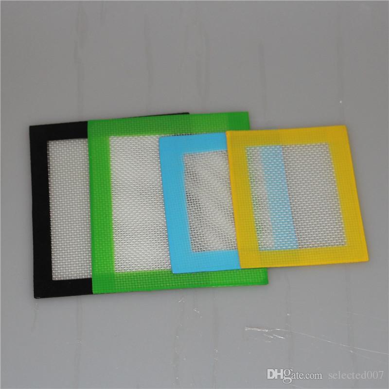 Tampons de cire de silicone tampons de tampons de silicone de 11 cm * 8,5 cm tapis 5 ml de silicium containe d'or dabber outil rigs de silicone pour les pots d'herbe sèche dab