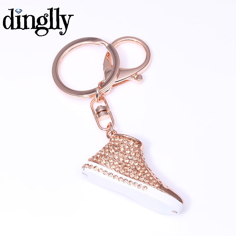 DINGLLY Cool Sneaker Shoes Key Chains With Crystal Fashion Metal Shoe  Keyring Jewelry For Women Men Key Wallet Key Lanyards From Gunot 2759bacbc3
