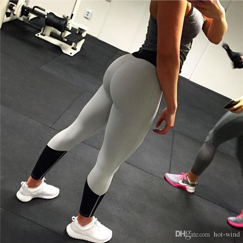 d6fa32ab6b Women Sports Yoga Leggings Elastic Tight Fitness Active Female Pants Women  Clothing Pink Black Solid Color Trousers FS5759 Online with $11.56/Piece on  ...